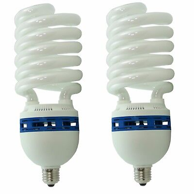 2x Fotolampe Energiesparlampe SYD 85 400W 5400K Tageslicht Lampe Studioleuchte