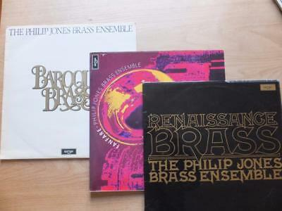 3 x PHILIP JONES BRASS ENSEMBLE vinyl LPs ~Renaissance; Baroque Brass & Fanfare