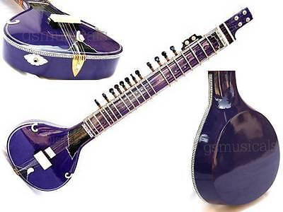 Sitar Blue Fusion  Pro Electric With Fiberglass Case Gsm013