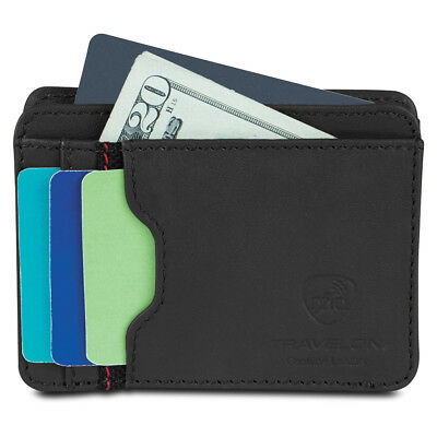 Travelon SafeID Cash & Card Sleeve, Black Compact Wallet Credit Card Protection