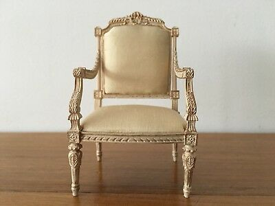 Beautiful 1:12 Dolls House Miniature Chair By Artisan Alison Davies
