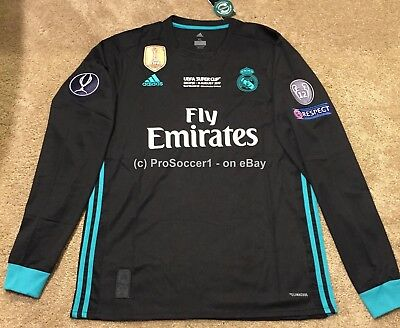 028d8c15c 2017 18 Real Madrid Away Kit- UEFA Supercup Final edition Jersey- Long  sleeve