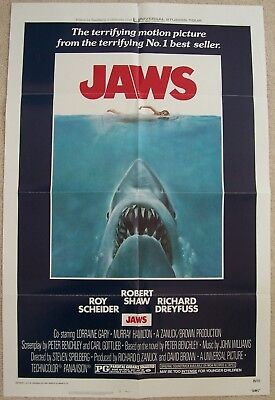 Jaws - Original Theatrical Movie Poster - 1975 US One Sheet