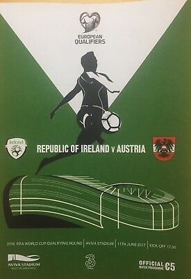 Ireland v Austria 11/6/2017 2018 FIFA World Cup Qualifier at Aviva Stadium