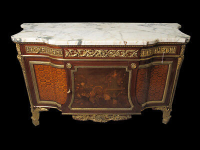 Outstanding Louis XVI Style Gilt Bronze Mounted Mahogany Commode # D7617