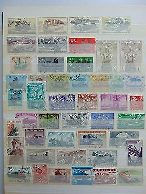 2 pages Transport theme stamps