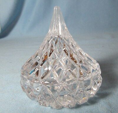 Famus HERSHEY KISS Covered Candy Dish  Godlinger Crystal MINT