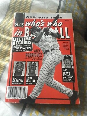 Who's Who In Baseball - 2008 Edition - Rare - Collectors Item - Book