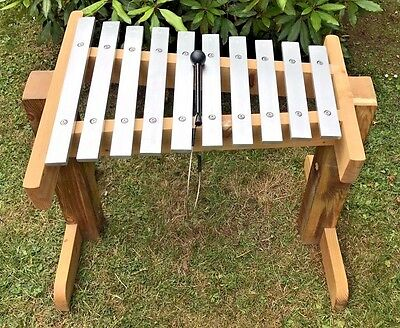 Percussion Plus Uk Made Outdoor 10 Note Glockenspiel - 65 Cm High