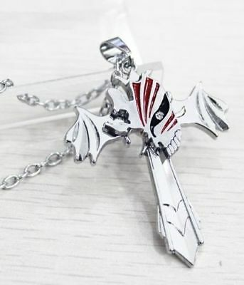 Anime Bleach Hollow Design Silver Cross Wing Pendant Necklace Costume