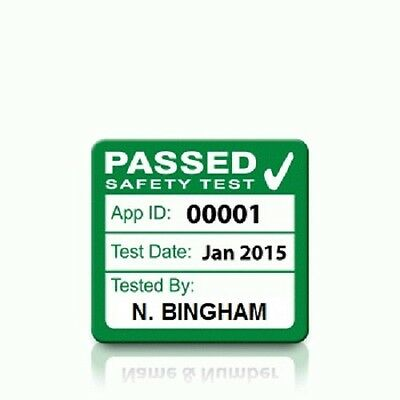 Personalised 'PASS' PAT Test Labels - SMALL (500)