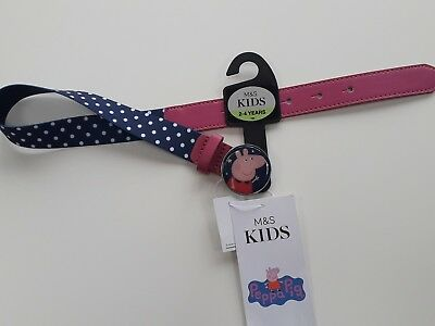 PEPPA PIG Girls Belt Age 2 - 4 Years M&S for Trousers & skirts