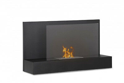 Ater Black Ignis Wall Mounted Ventless Bio Ethanol Fireplace Eco