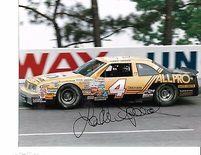 Autographed Lake Speed  NASCAR Racing Photograph