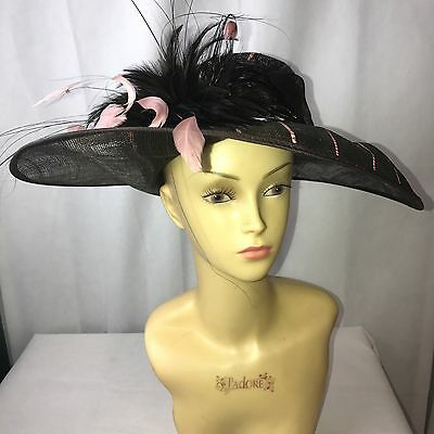 Unusual Brown Stripe Formal  Hat Bought For Ascot Worn Once