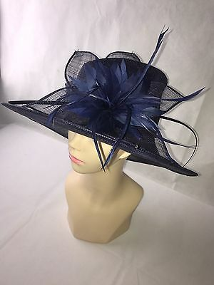 Viyella Blue Hat Bought For Ascot Worn Once