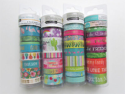 Recollections TROPICAL LIFE & UNICORN Washi Crafting Tape Lot #2