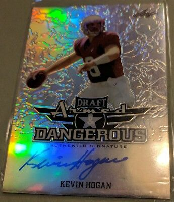 2016 Leaf Draft Armed and Dangerous Kevin Hogan on card auto Cleveland Browns