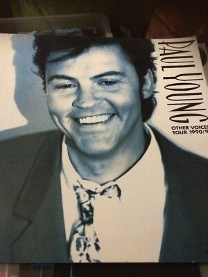 Paul Young Signed Tour Programme Other Voices Tour 1990/91