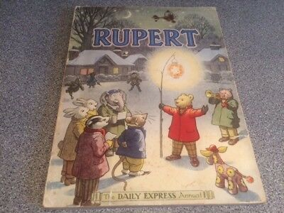 VINTAGE ORIGINAL 1949 RUPERT BEAR ANNUAL, PRICE UNCLIPPED at 4/-
