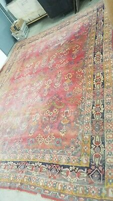 Antique Hand Woven Silk Rug  Oriental 12' x 9' Carpet