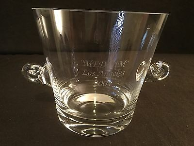 "Glass Tiffany & Company ""medium"" Los Angeles 2004 Champagne Ice Bucket Cooler"