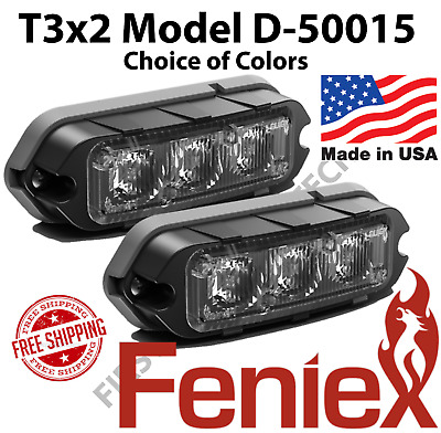 2x Feniex T3 Surface Mount, Grill, Deck LED Light Set of 2