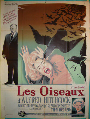 The Birds-Alfred Hitchcock-Rod Taylor-Tippi Hedren-Art By Grinsson-French (47x63