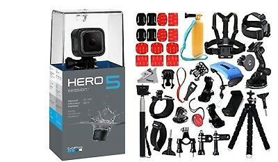 DEAL: GoPro HERO5 session Edition +45pcs Mega Accessories Kit. Camera Camcorder