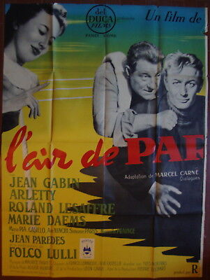 Air of Paris-M.Carné-Jean Gabin-Boxe-Sport-Arletty-2 Pannels French (82x59inch)