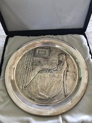 IN ORIG PKG Sterling Silver George Washington Mint 1972 Mother's Day Plate 9400
