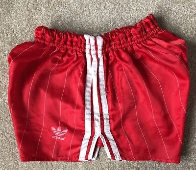 Adidas Nylon Glanz Sprinter Shorts Football Gym Swim Running Vintage Football
