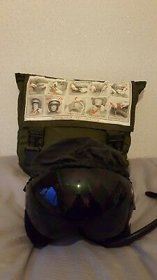 RAF pilots helmet (used on harrier) and carry bag. Good condition!
