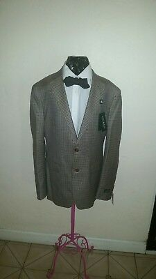 Lauren Ralph Lauren Men's Tan/Brown Gingham Classic Fit Blazer Size 42R