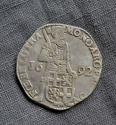 Dutch Utrecht Silver Ducat Coin Dated 1692