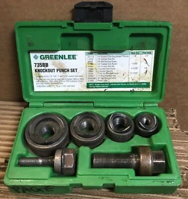 "Greenlee 735BB Ball Bearing Knockout Punch Set 1/2""-1.25"""