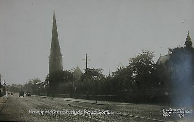 BROOKFIELD CHURCH & HYDE ROAD GORTON MANCHESTER LANCS c1905 RP PC