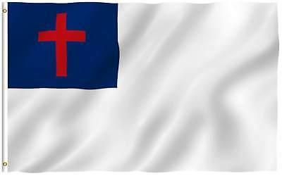 Pack of 2 Christian Country Polyester Flag 3' x 5' USA SELLER