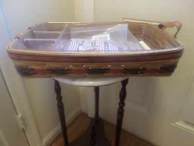 Longaberger All American Star Spangled Tray With New Liner And Protectors