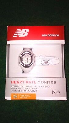 NEW BALANCE N4 Pearl Ladies Running Heart Rate Monitor Watch +Chest Strap