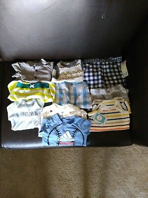 Most of the clothes are new some don't have the tag. They are clean condition.