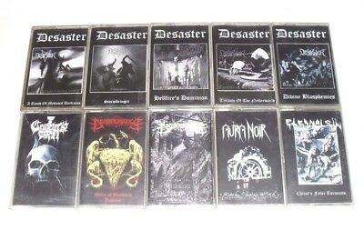 Lot Of 10xAudio MC Cassette Tapes/Black Metal/DEMO/Desaster/USED AS BLANKS