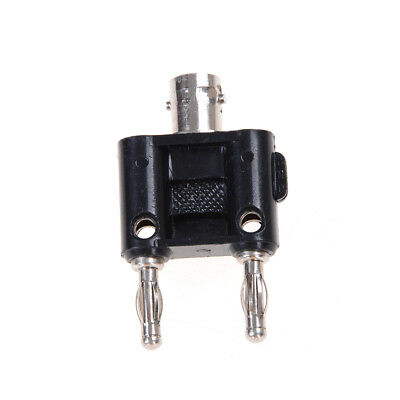 New BNC female jack to two dual Banana male plug RF adapter connector FTUS