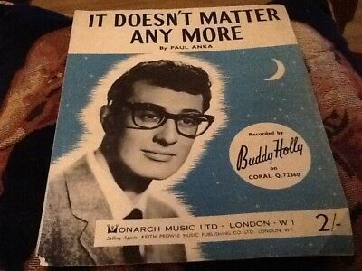 buddy holly it doesnt matter any more sheet music