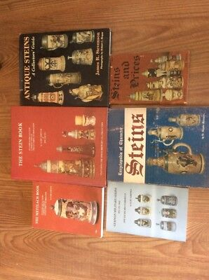 Lot Of 6 Antique Stein Books. Mettlach, Character, German