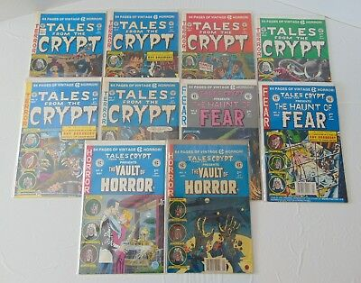 Vintage Tales From The Crypt Comic Book Lot Of (10) Terror, Horror & Fear 91-92