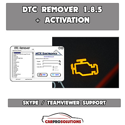 DTC REMOVER 1.8.5 Elimination Clear Remove DTC errors from ECU