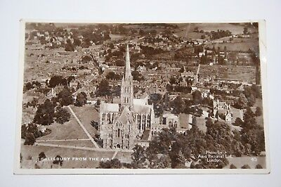 Salisbury from the Air, postcard dated 1938