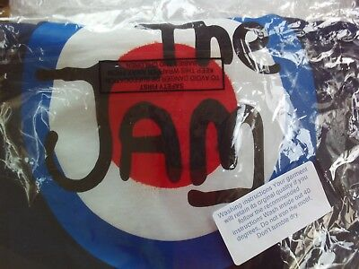 The JAM pop group punk Paul Weller Navy Blue MOD T-SHIRT, Cotton sz 4XL NEW