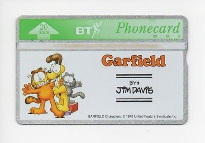 BT Phonecard BTG076, Garfield & Friends by Jim Davis, unused